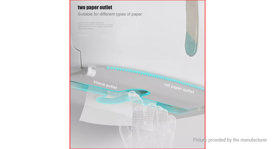 ecoco Multifunctional Bathroom Wall Mounted Toilet Roll Paper Holder Tissue Box