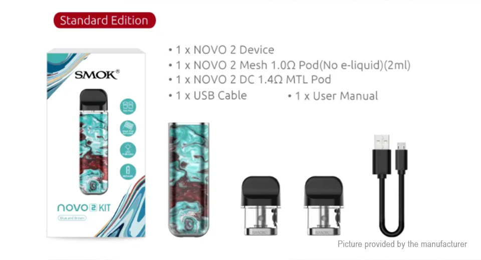 Authentic Smoktech SMOK Novo 2 25W 800mAh Pod System Starter Kit