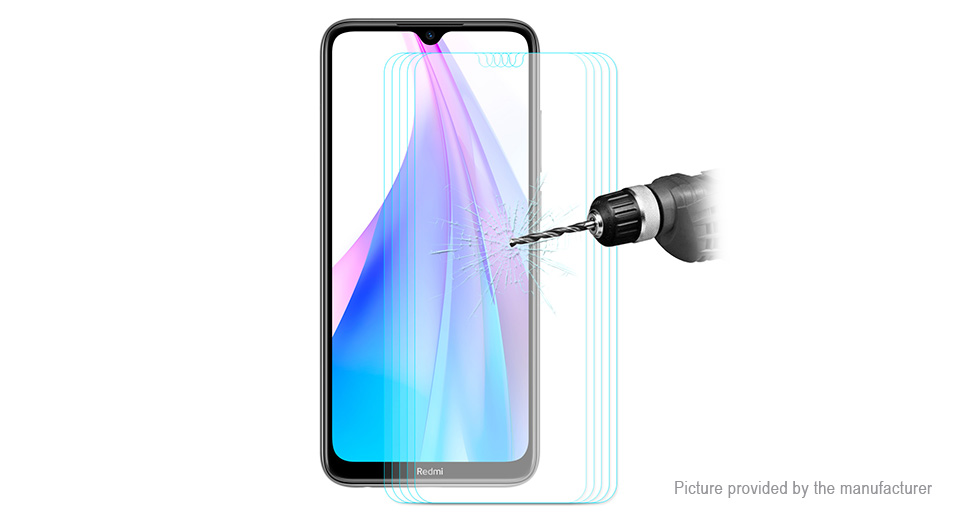 Hat.Prince 2.5D Tempered Glass Screen Protector for Xiaomi Redmi Note 8T (5-Pack)