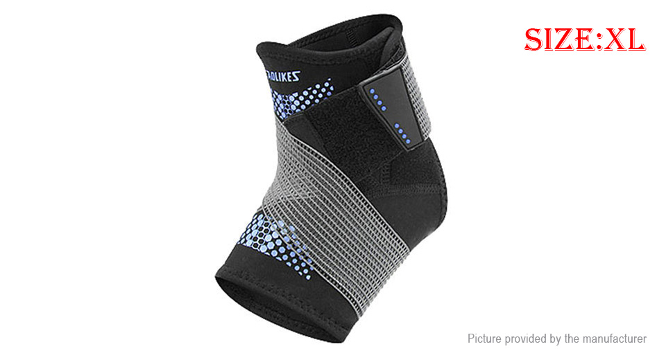 AOLIKES Sports Fitness Compression Ankle Brace Support Protector (Size XL)