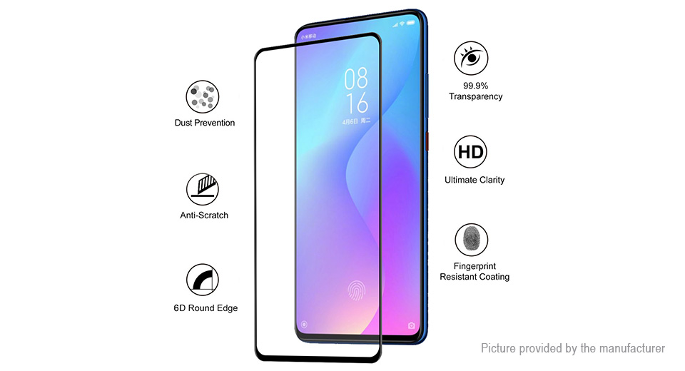 Hat.Prince 6D Curved Tempered Glass Screen Protector for Xiaomi Mi 9T