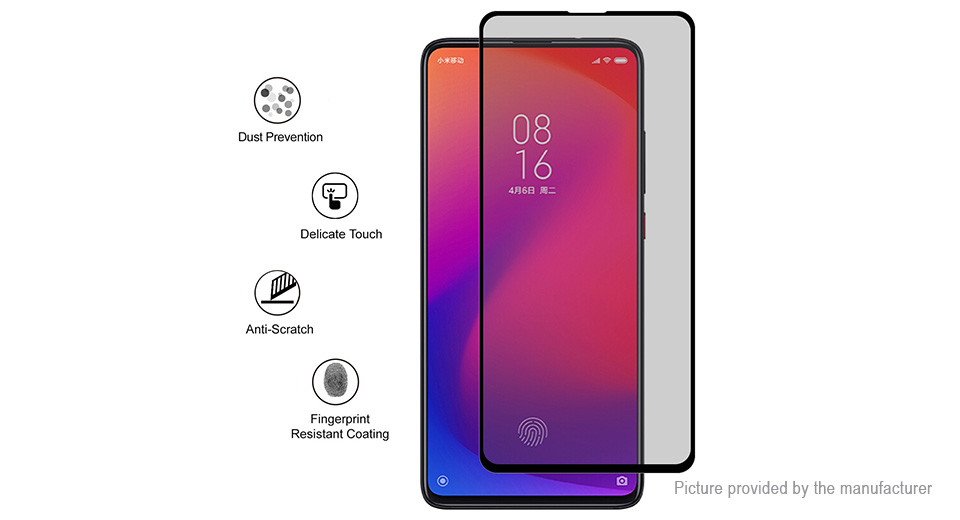 Hat.Prince 2.5D Tempered Glass Privacy Screen Protector for Xiaomi Mi 9T