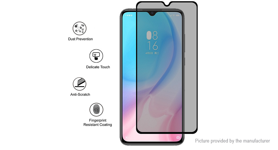 Hat.Prince 2.5D Tempered Glass Privacy Screen Protector for Xiaomi Mi CC9