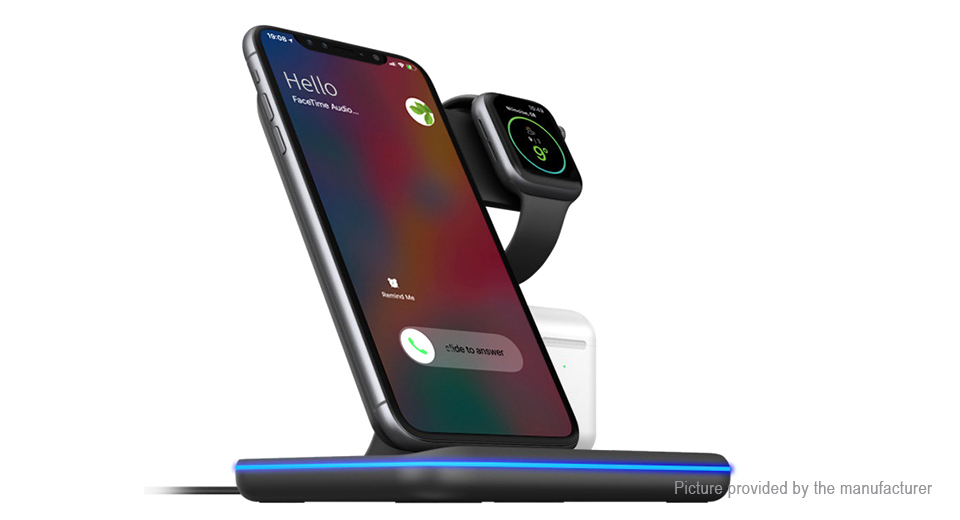 Z5 3-in-1 Desktop Qi Wireless Charger Holder Stand