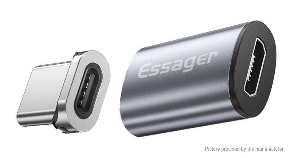 Essager Micro-USB to USB-C Magnetic Charging & Data Converter Adapter