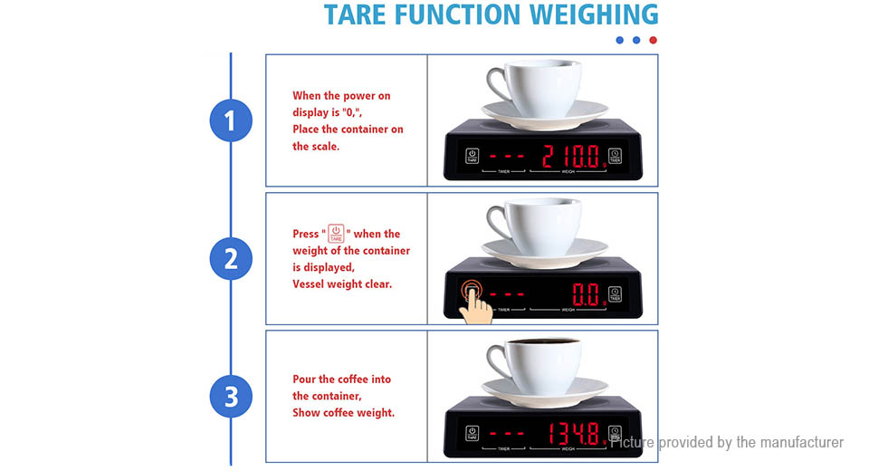 High Accuracy Digital Electronic Kitchen Coffee Scale (5kg/0.1g)