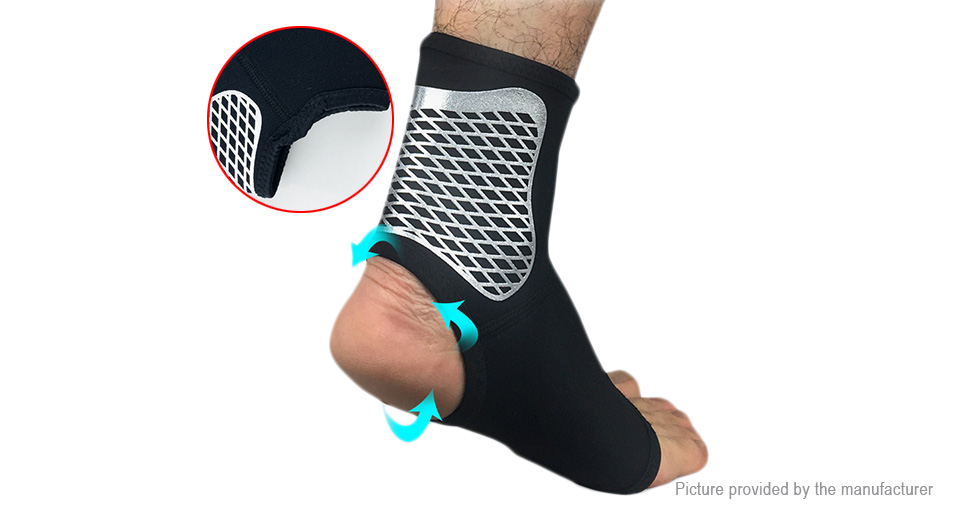 Sports Fitness Compression Ankle Brace Support Protector (Size XL)