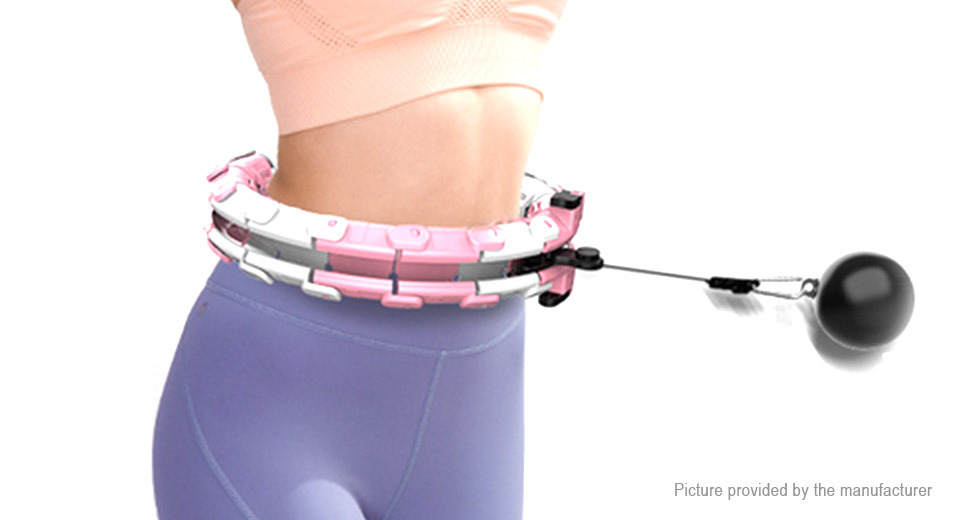 Adjustable 24 Knots Non-fall Intelligent Massage Exercise Slimming Hoop