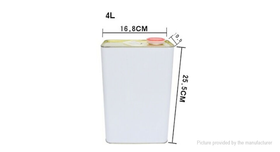 JAPC 4L Square Metal Tin Machine Oil Tank Paint Container