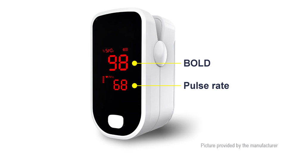LED Fingertip Pulse Oximeter Blood Oxygen SpO2 Monitor