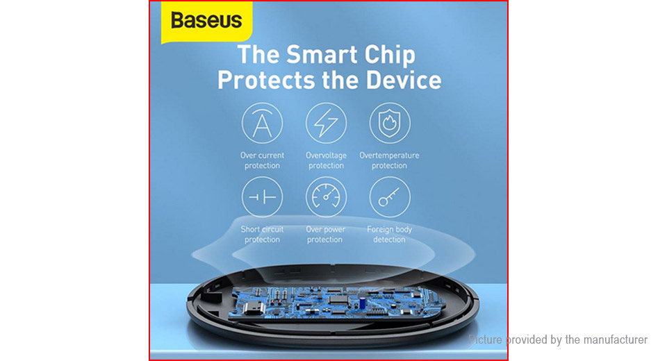 Authentic Baseus BS-W510 Qi Inductive Wireless Charger Charging Pad