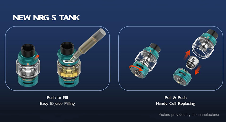 Authentic Vaporesso NRG-S Tank Clearomizer