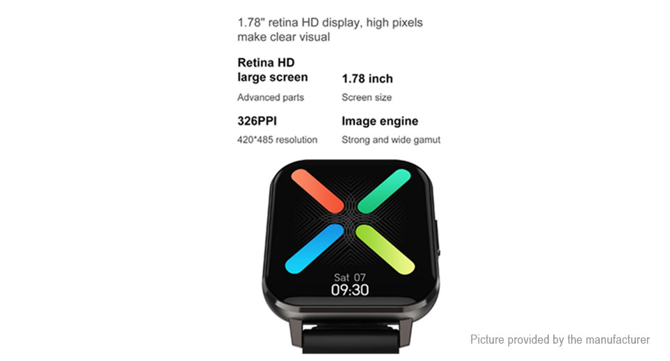 "DT NO.1 DTX 1.78"" IPS Touch Screen Bluetooth V5.0 Smart Watch"