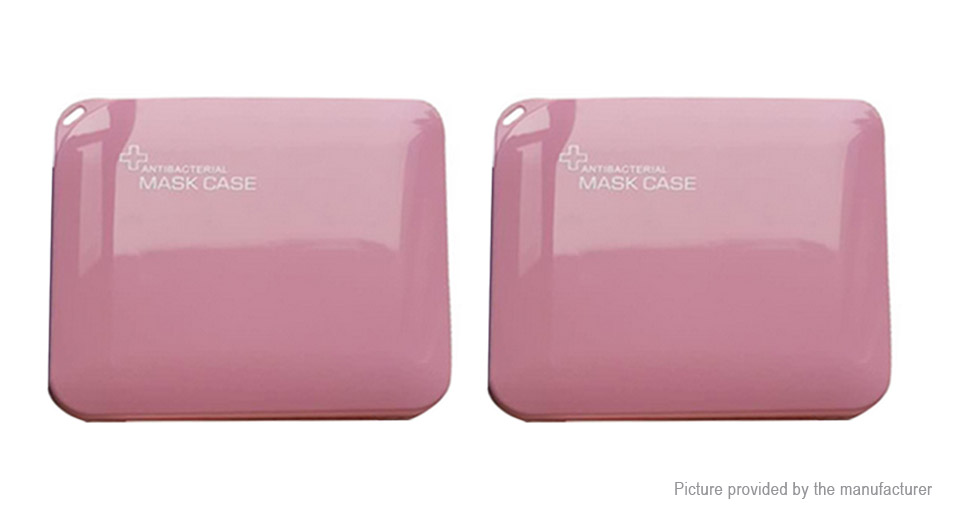 2PCS Portable PP Storage Box Dust-proof Container Case for Disposable Face Mask