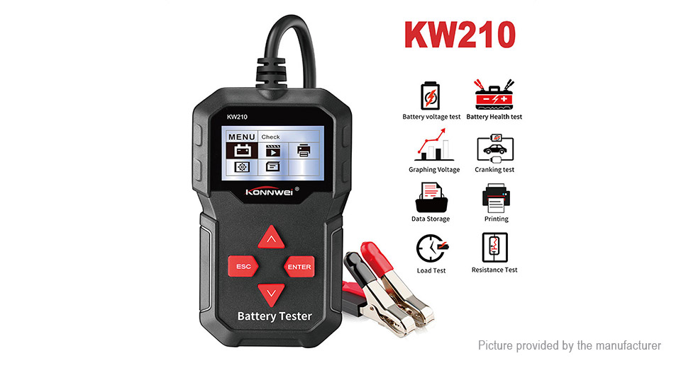 Authentic KONNWEI KW210 Battery Tester for All 12V Cars