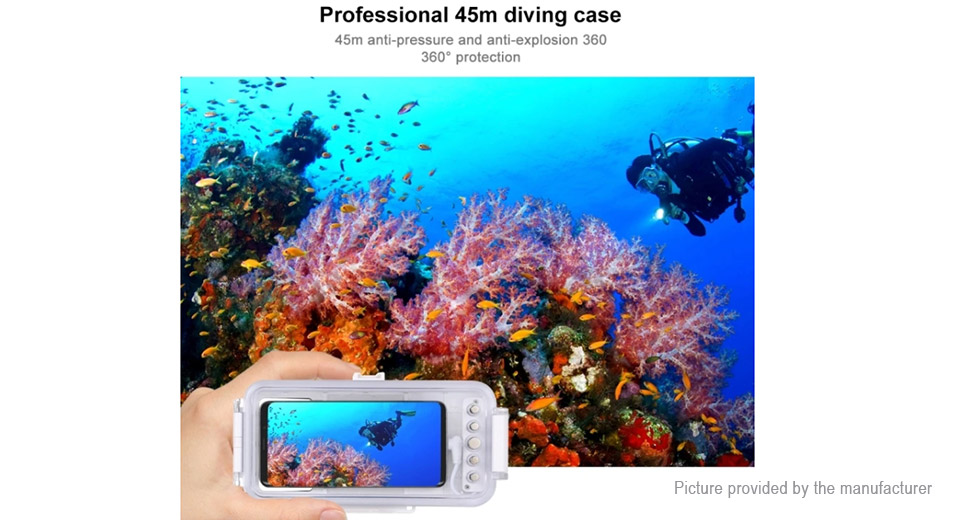 PULUZ PU9100W Waterproof Diving Housing Case for Cell Phone w/ OTG Function