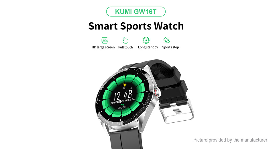 "Authentic KUMI GW16T 1.3"" IPS Touch Screen Bluetooth V5.0 Smart Watch"