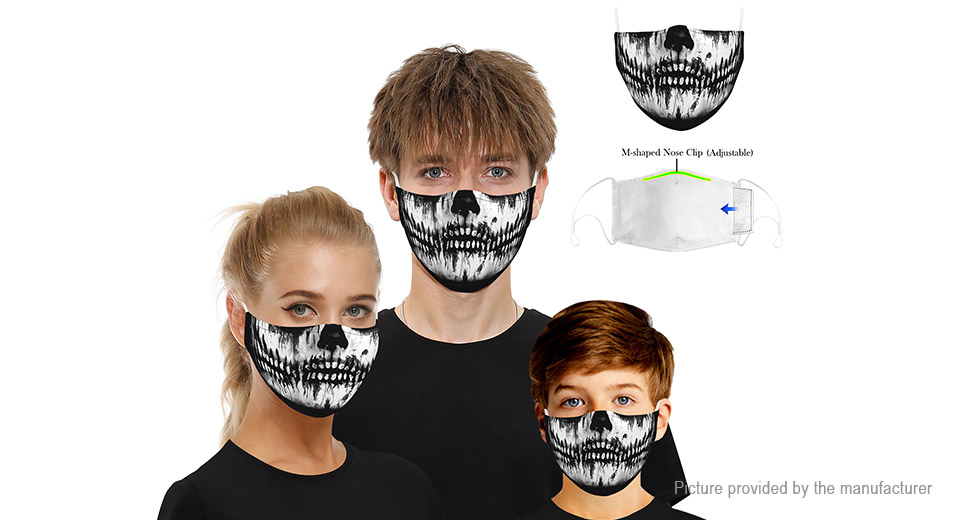 2PCS Adult Children Scary Face Mask for Halloween Costume Party