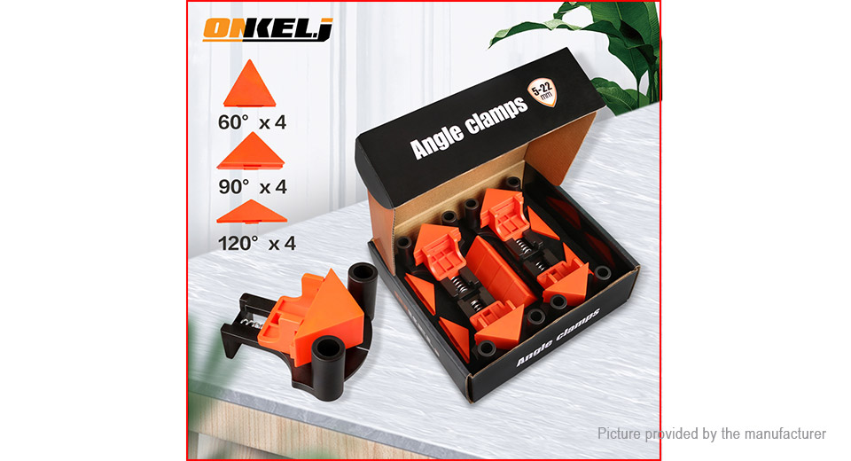 4PCS Onkel.J 90 Degree Right Angle Clamp Corner Clip for Woodworking Picture Frame