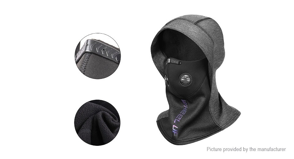 WHEEL UP Outdoor Cycling Plus Velvet Winter Warm Balaclava Full Face Mask