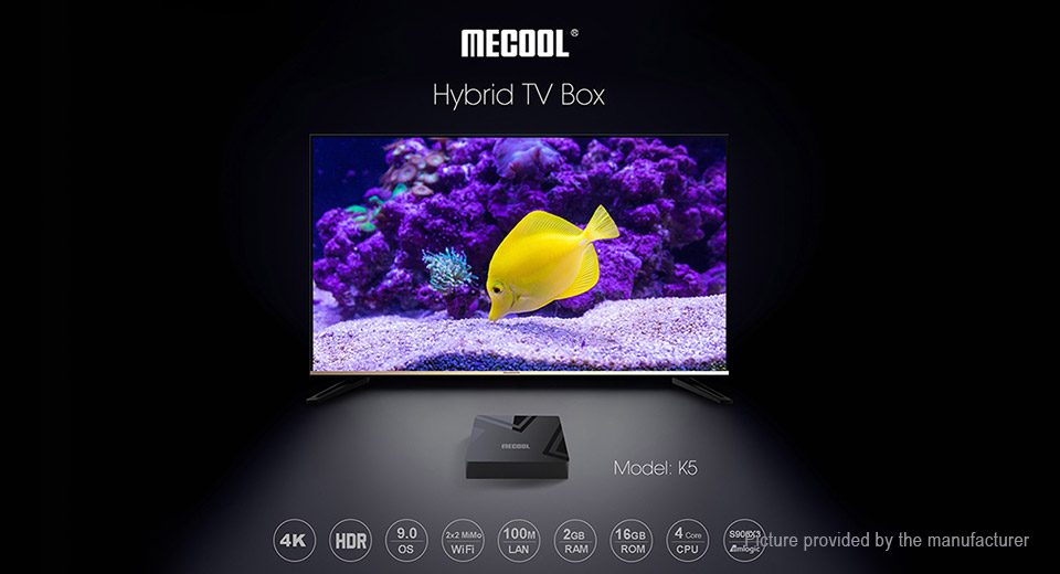 MECOOL K5 Quad-Core Pie TV Box (16GB/US)