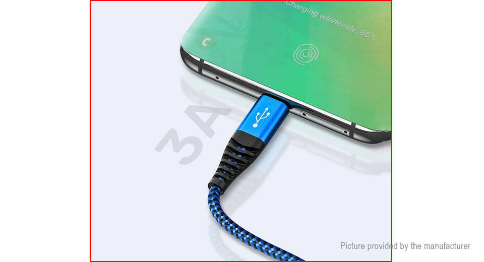 TOPK AN24 8-pin/Micro-USB/USB-C to USB 2.0 Charging Cable (100cm)