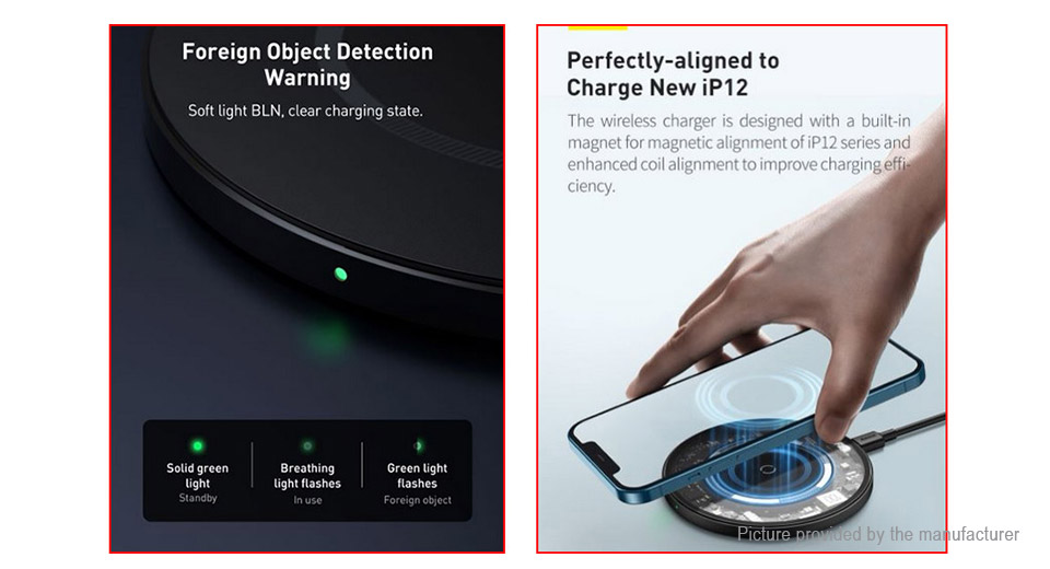 Authentic Baseus Simple Qi Inductive Wireless Charger