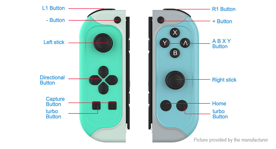 JYS Bluetooth V4.2 Game Controller Gamepad for Nintendo Switch