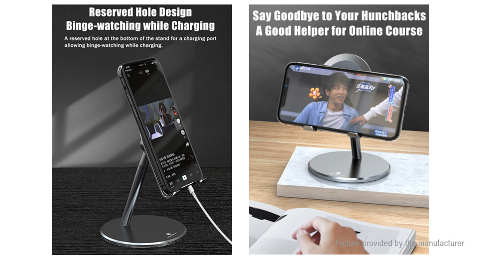BONERUY P6 Universal Aluminium Alloy Cell Phone Tablet Desktop Holder Stand