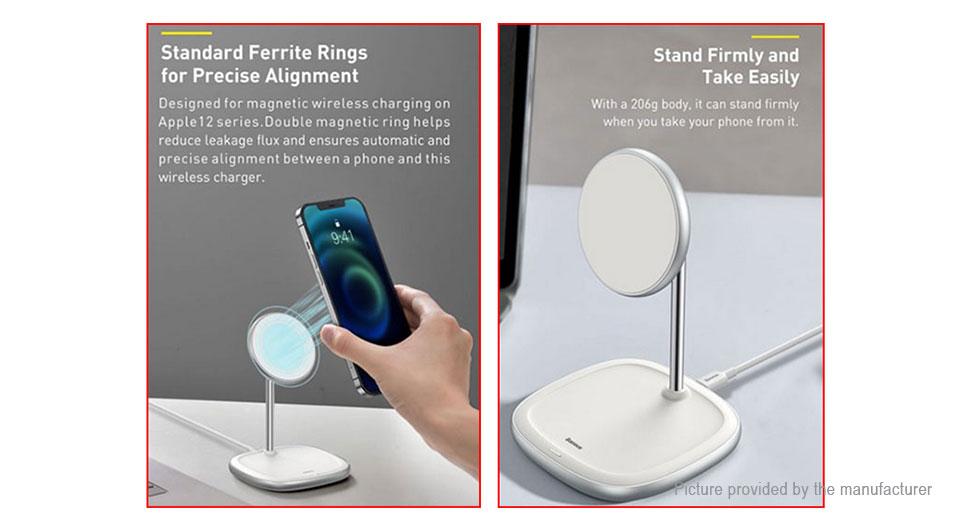 Authentic Baseus BS-W519 2-in-1 Qi Inductive Wireless Charger Cell Phone Holder