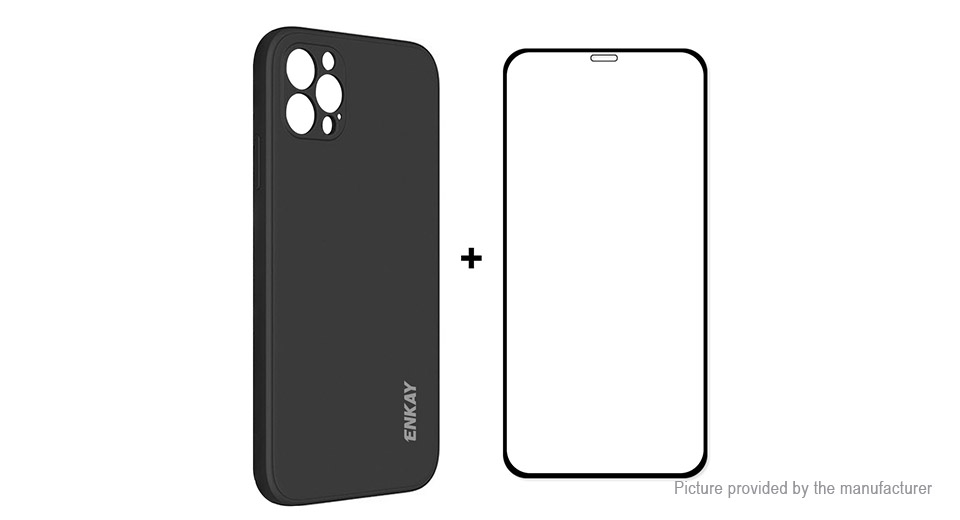 ENKAY NK-PC0702 Soft Liquid Silicone Protective Back Case for iPhone 12 Pro Max