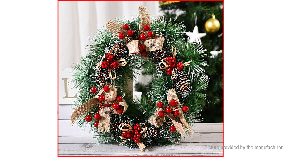 Artificial Christmas Wreath Garland Door Wall Ornament Decoration
