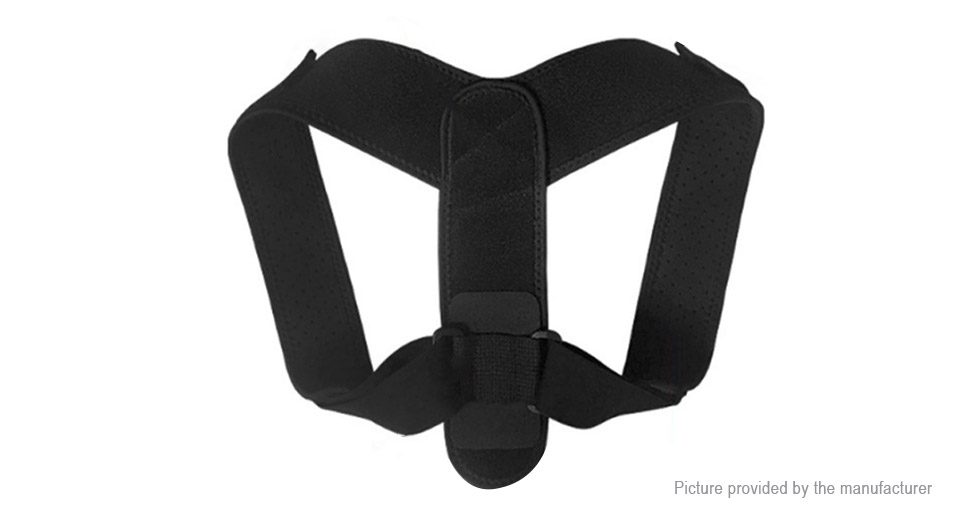 AOLIKES Adjustable Unisex Posture Corrector Upper Back Support Brace Belt