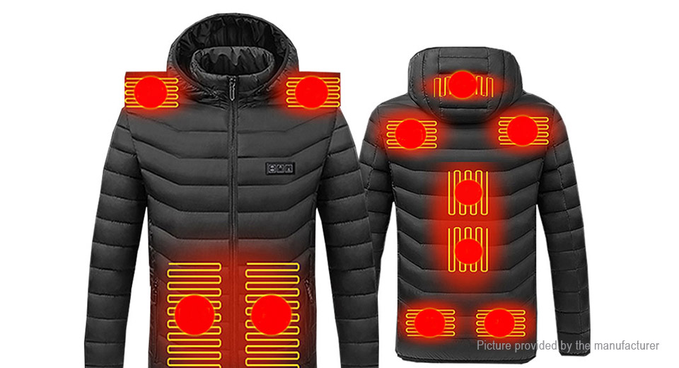 Unisex USB Electric Heated Warm Jacket Coat (Size 3XL)