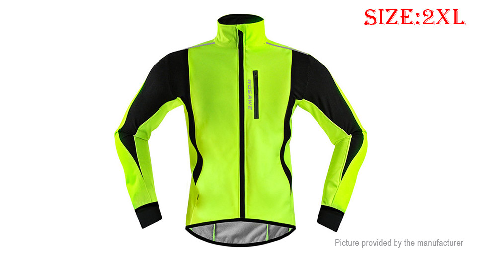 WOSAWE BL261 Cycling Jacket Winter Thermal Fleece Warm Windbreaker (Size 2XL)