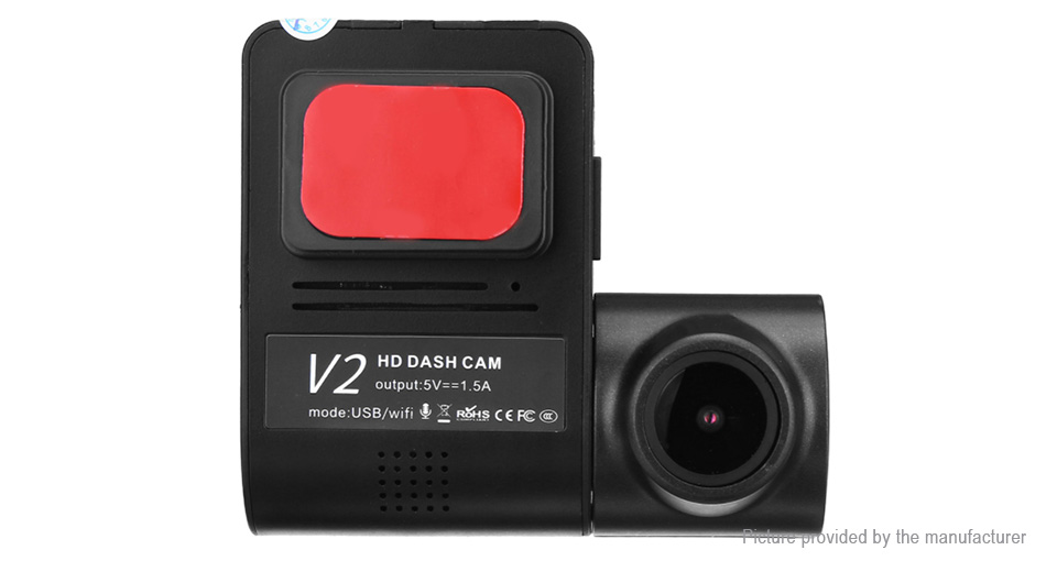 V2 720p HD Wifi Car Dash Camera DVR Camcorder