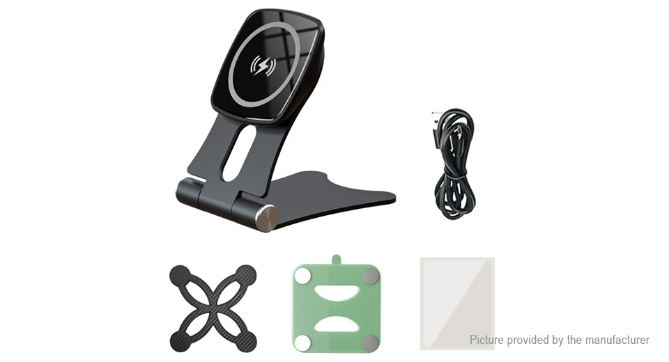 OBSHI WX038L Qi Inductive Wireless Charger Magnetic Cell Phone Holder Stand