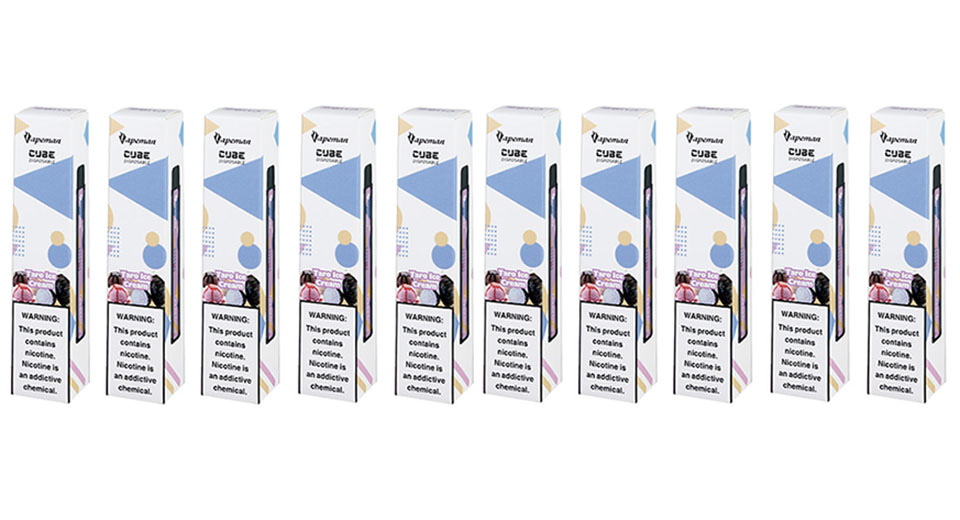 10PCS Authentic Vapeman Cube 850mAh Disposable E-Cigarette