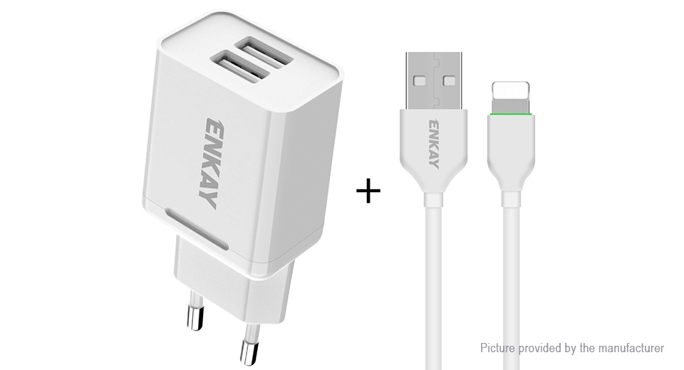 Product Image: enkay-t003-1-dual-usb-wall-charger-power-adapter