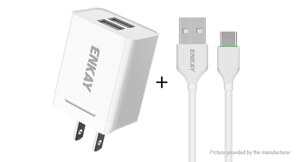 Product Image: enkay-u008-1-dual-usb-wall-charger-power-adapter
