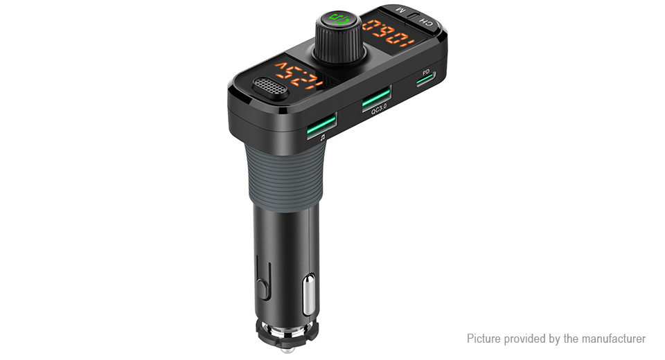 Product Image: bc70-3-port-car-charger-bluetooth-v5-0-fm