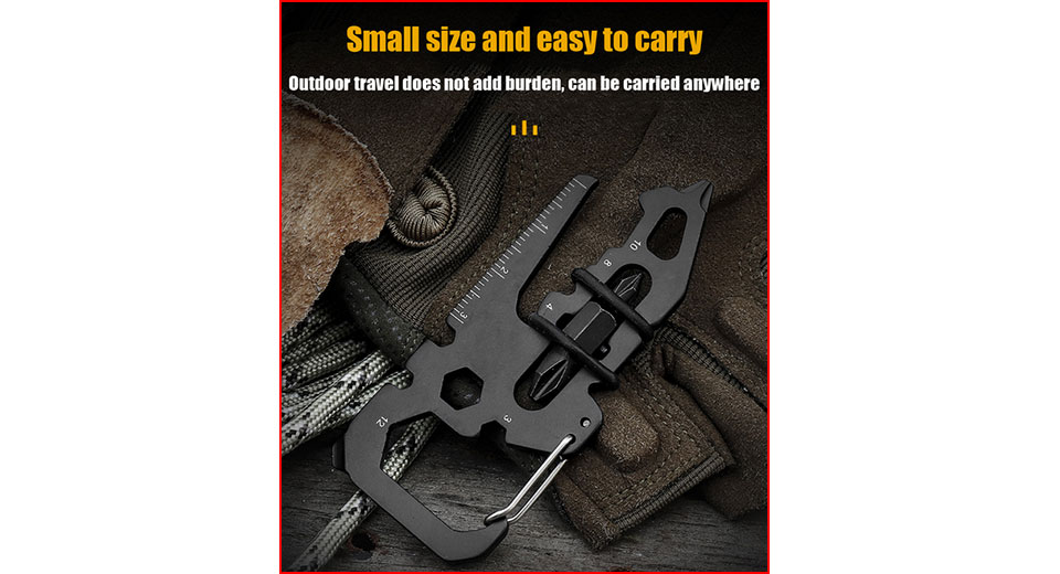 2PCS VK1929 15-in-1 Multifunctional Outdoor Survival Card Shape EDC Tool