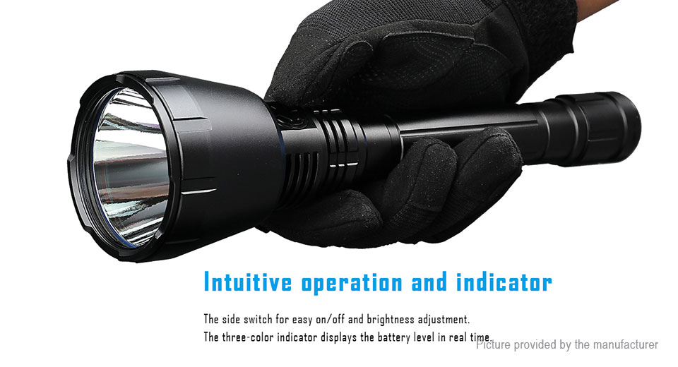 Authentic IMALENT UT90 LED Flashlight w/ Tail Cap/Tactical Ring/Magnetic Base
