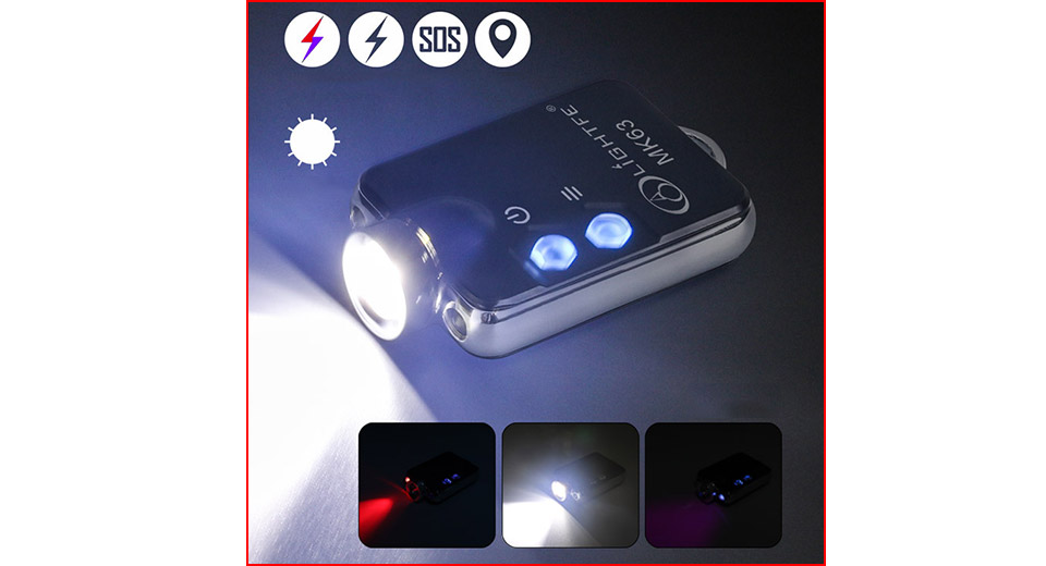 Authentic LIGHTFE MK63 Multifunctional Mini LED Flashlight