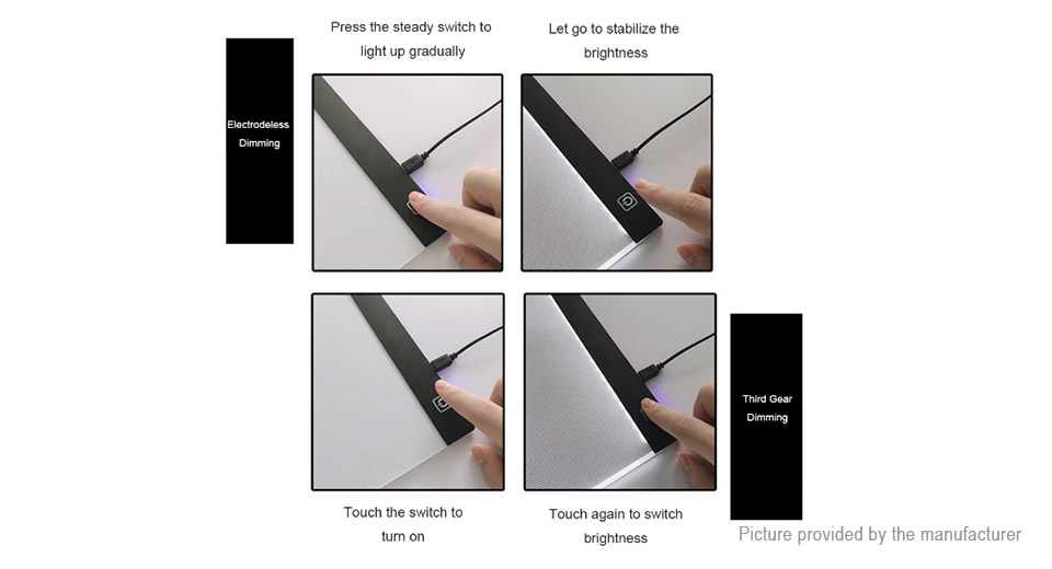 A4 LED Drawing Tablet Graphics Pad Electronic Art Painting Copyboard