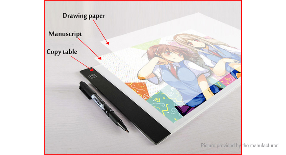 A5 LED Drawing Tablet Graphics Pad Electronic Art Painting Copyboard