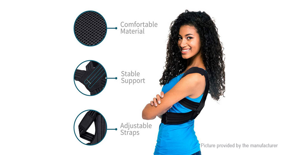 Unisex Back Lumbar Support Pain Relief Posture Corrector Belt (Size M)