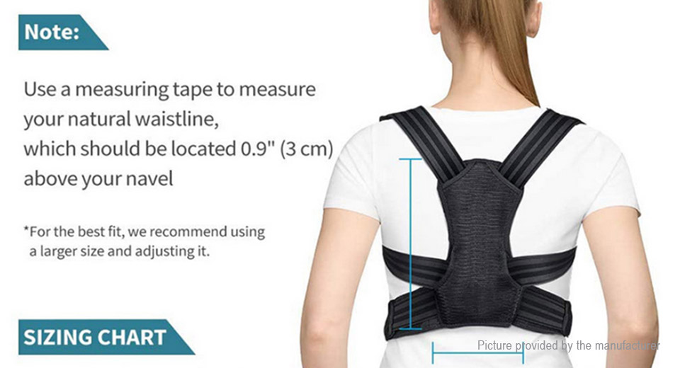 Unisex Back Lumbar Support Pain Relief Posture Corrector Belt (Size L)