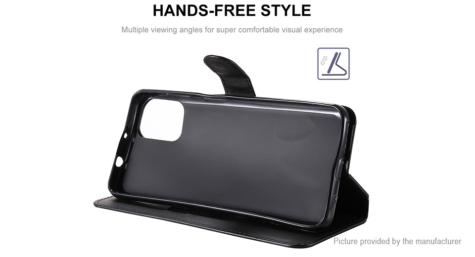 ENKAY PU + TPU Protective Flip-open Stand Case Cover for Motorola Moto G9 Plus