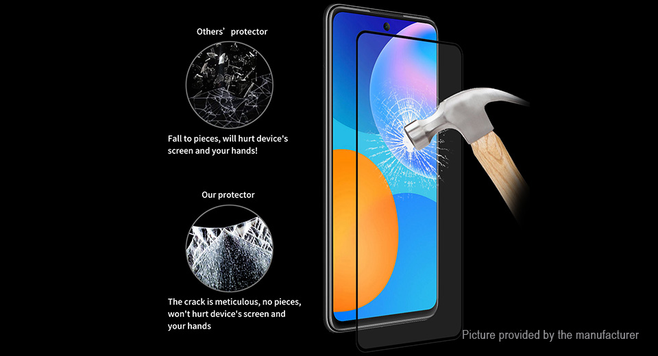ENKAY Full Glue Tempered Glass Screen Protector for Huawei P Smart 2021
